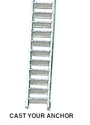 Inclined Ladder, Metal, Assembled