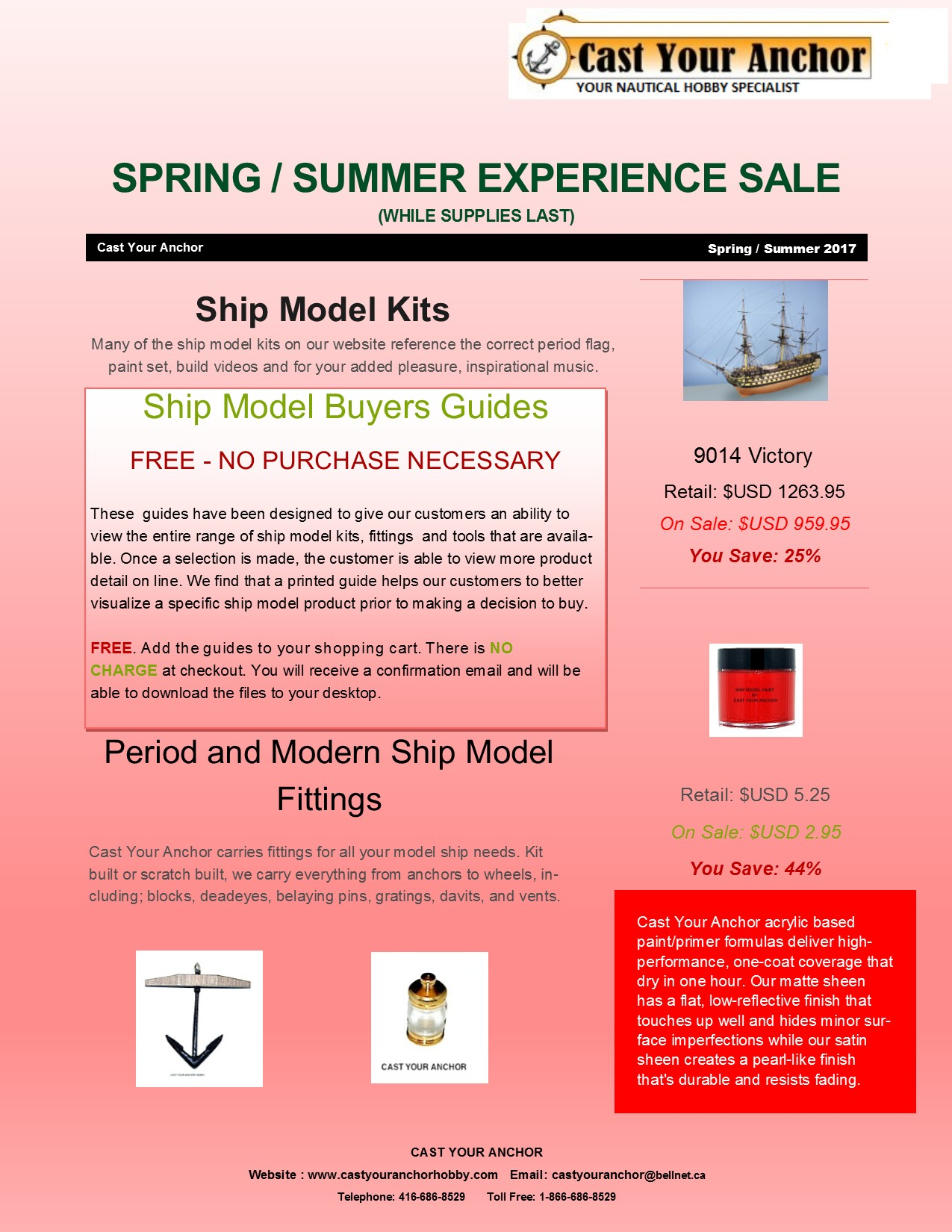 Spring / Summer Experience Sales Flyer