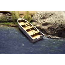71018 - Row Boat with Sail - 62mm