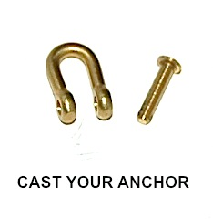 30659 - Shackle with Threaded Pin - 8mm