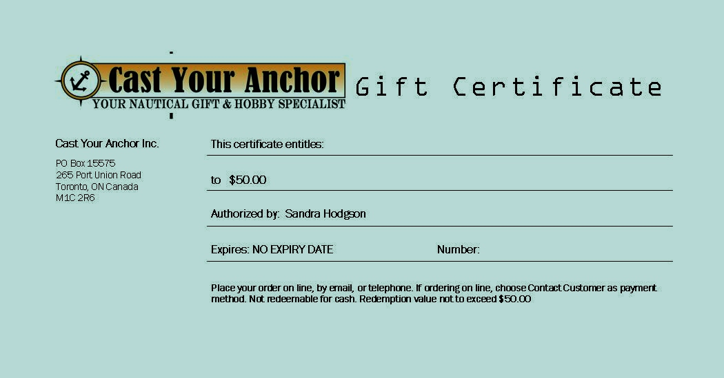 GC50 - $50.00 Gift Certificate